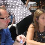 Nano physicist Markus Lackinger discusses science (c) EUSJA